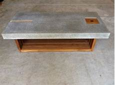 Concrete And Wood Coffee Table Coffee Table