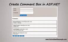 create simple comment box in asp net it tutorials with exle