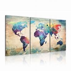 format toile peinture format impression sur toile images 3 carte du monde tableau 020113 50