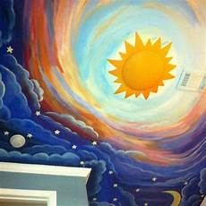 painted this my son s ceiling it s a nighttime sky going into a daytime sky and i bought the