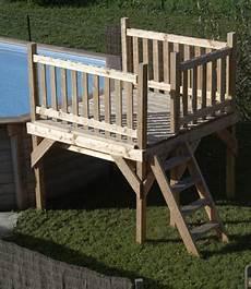 escalier bois piscine hors sol escalier bois pour piscine hors sol