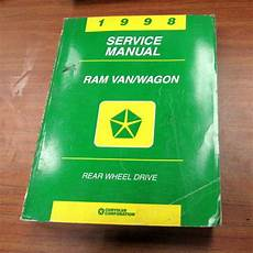 car owners manuals for sale 1998 dodge ram 1500 club transmission control 1998 dodge ram van wagon shop service repair manual for sale online ebay