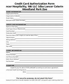 free 11 sle credit authorization forms in ms word pdf excel