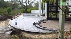 how to build paver brick patio lay two color