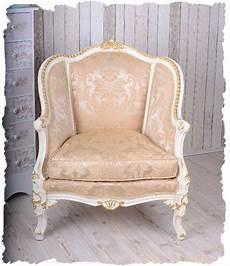 sessel sitzen barocke bergere vintage sessel creme gold barocker