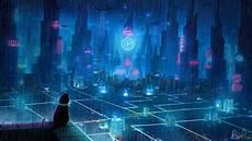 Neon Retro Cyberpunk Wallpaper by Wallpaper 2560x1440 Cat Roof City Neon Lights