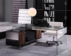 glass home office furniture glamour modern office desk 02 desks