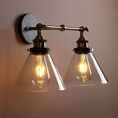 vintage industria wall light double arms rustic sconce glass wall l uk seller bedroom