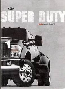 auto repair manual free download 2009 ford f350 parking system 2009 ford super duty f250 thru f550 owner s manual with case