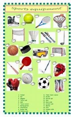 sports equipment worksheets 15781 sports equipment matching esl worksheet by pet24