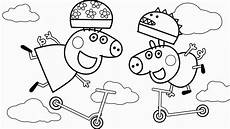 peppa pig george pig coloring pages learn colors for