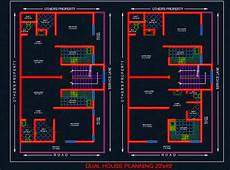 using autocad to draw house plans dual house planning floor layout plan 20 x40 dwg drawing
