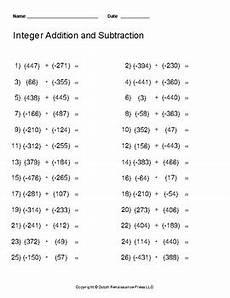 subtraction worksheets generator 10091 integer addition and subtraction worksheet generator by tim s printables