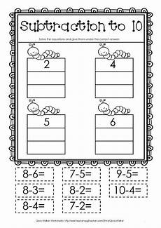 cut and paste subtraction worksheets for kindergarten 10497 pin on education math