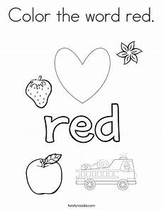 color the word coloring page twisty noodle