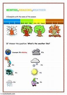 seasons exercises worksheets 14790 weather seasons interactive worksheet