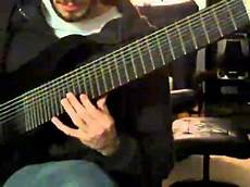 16 string guitar four octave arpeggio on 16 tone nine string guitar