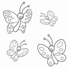 Malvorlagen Schmetterling Zum Drucken Ausmalbild Tiere Vier Schmetterlinge Kostenlos Ausdrucken