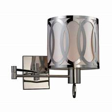 elk lighting 10171 1 lq polished nickel 24 quot extension 1 light swing arm wall sconce with a drum