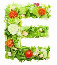 tasty letter e made with fresh vegetables photo free