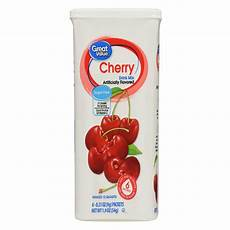 great value drink mix cherry sugar free 1 9 oz 6 count