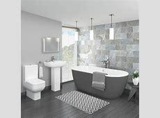 Pro 600 Grey Modern Free Standing Bath Suite   Victorian