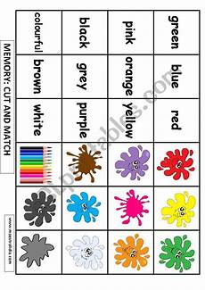 memory about colors esl worksheet by maestralidia