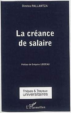 creance publique fr la cr 233 ance de salaire pallantza 9782343042565 lgdj fr