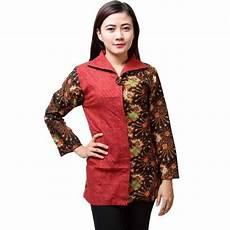 10 Baju Batik Wanita Kantor Lengan Panjang Elegan
