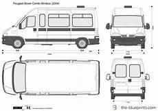 peugeot boxer dimensions peugeot boxer combi minibus vector drawing
