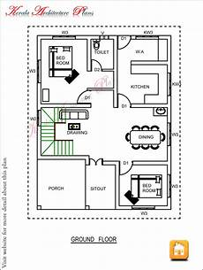 house plans in kerala with 2 bedrooms three bedroom house plan architecture kerala