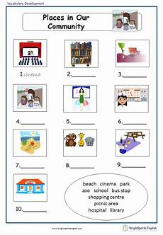 places in community worksheets 15955 places in our community vocabulary worksheet treasure trove