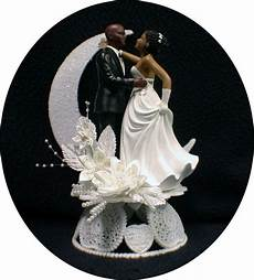 bald hispanic black african american groom and bride wedding cake topper ebay