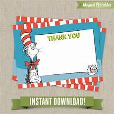 thank you card editable template dr seuss cat in the hat editable birthday thank you cards