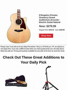 Guitar Center Best Of Daily Save 220 Today Only