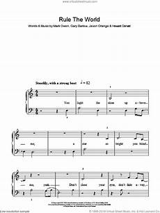 that rule the world sheet music easy for piano solo pdf