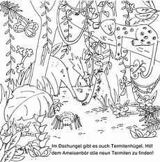 Dschungelbuch Malvorlagen Text Dschungelmal Und Rstebuch Bildwechsel Dschungel Malbuch
