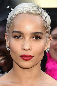 zo 235 kravitz straight silver pixie cut hairstyle steal
