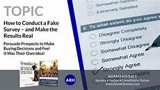 how to conduct a fake survey and make the results real adam hommey speaker author