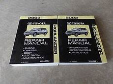 car owners manuals for sale 2003 toyota highlander electronic toll collection 2003 toyota highlander service repair manual ebay