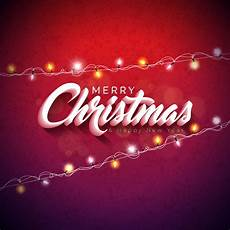 merry christmas light vector vector merry christmas illustration with 3d typography design and holiday light garland shiny