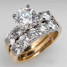 quot the leo quot 2 carat diamond engagement ring bridal 18k gold platinum