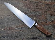 High Carbon Steel Kitchen Knives Custom Made High Carbon Steel Chef S Knife By Carbon River