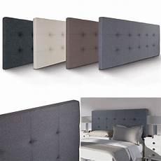 tete de lit grise t 234 te de lit capitonn 233 e en tissu 160x58 cm grise id market