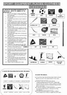sports equipment worksheets 15781 exercises clothes 3 exercises