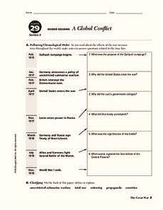 a global conflict worksheet answers a global conflict worksheet for 9th 10th grade lesson
