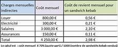comment connaitre le prix de vente d un bien vendu comment calculer le co 251 t de revient d un sandwich kebab