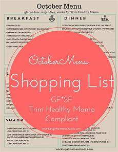 Trim Healthy Mama Food Chart Free Printable Shopping List For 31 Days Of Thm Meals