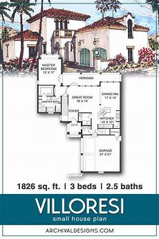 spanish revival house plans with courtyards villoresi house plan in 2020 house plans courtyard