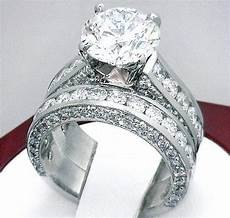 3 2 carat diamond engagement ring wedding band plat or 18k white gold ebay